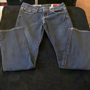 Express X2 size 2 short dark blue jeans
